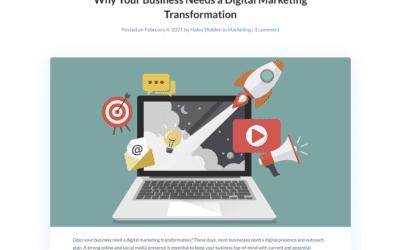 Pourquoi votre business a besoin d'une transformation au marketing digital ?